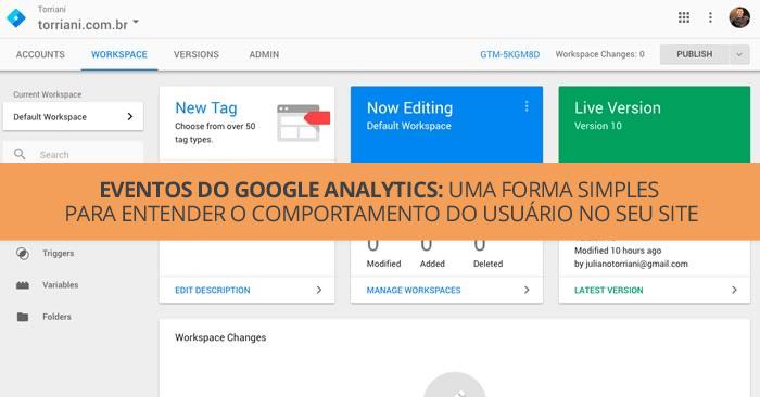 TUTORIAL: Passo a Passo para entender o comportamento do usuário no seu site através dos eventos do Google Analytics